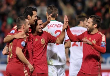 España goleó Bielorrusia