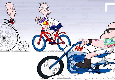 Caricatura: Rooney va por todo