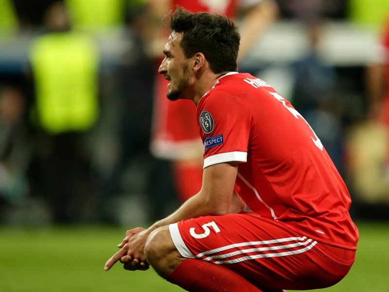 """Pour Mats Hummels, l'élimination du Bayern Munich par le Real Madrid """"fera encore mal dans dix ans"""""""