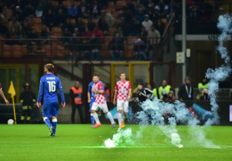 Gallery: Fireworks at Italy v Croatia