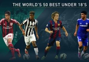 Goal'ün dünyada etrafındaki bütün edisyonlarının belirlediği 18 yaş altı dünyanın en iyi 50 futbolcusu bu listede! Bursaspor'dan da bir isim var... Futbolun geleceği bu isimlere bağlı!