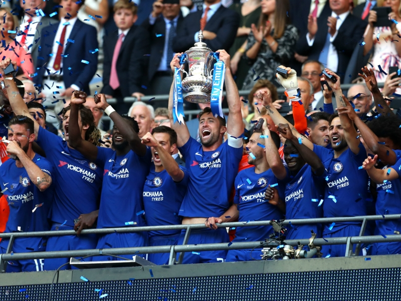 Victor Moses lifts first FA Cup title after Chelsea triumph