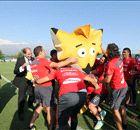 """GALERIA: La """"Roja"""" conoció a la mascota de Copa América"""
