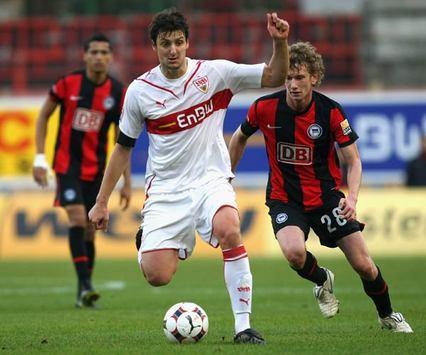 Bundesliga: VfB Stuttgart - Hertha BSC / Zdravko Kuzmanovic & Fabian Lustenberger (Bongarts/Getty-Images)