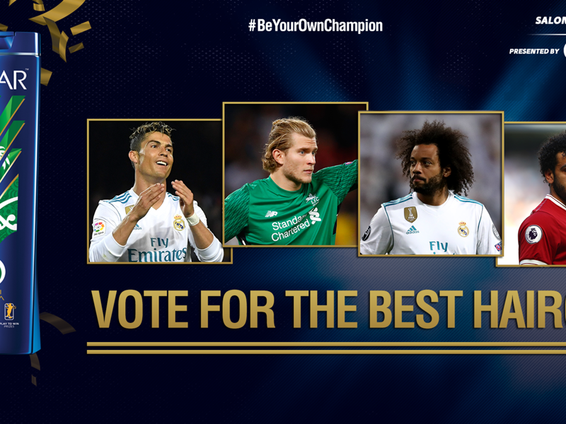 Salon d'Or: Vote for your favourite footballer hairstyle in Kiev