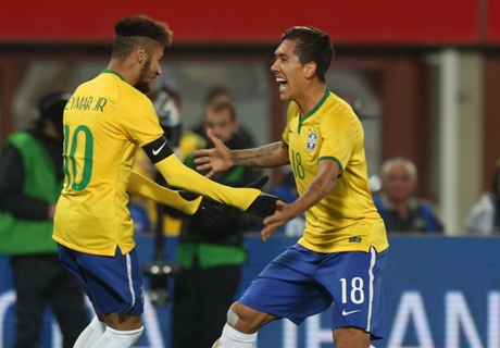 Firmino earns Brazil sixth successive win
