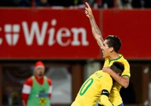 Schoss Brasilien zum Sieg: Roberto Firmino (r.)