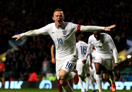 Rooney double downs Scotland