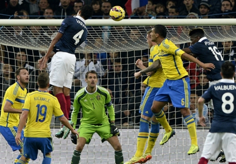 Varane header sinks Sweden
