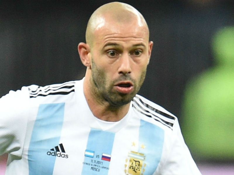 Mascherano's 144th appearance sees him overtake Zanetti as Argentina's most-capped player