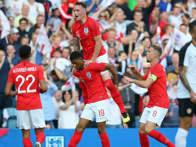 England 2 Costa Rica 0: Rashford scores stunner in final World Cup warm-up win