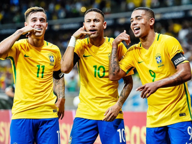 Neymar, Gabriel Jesus, Coutinho, and Brazil's top goalscorers under Tite