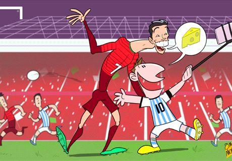 CR7 y Messi se hacen una 'selfie' juntos