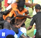 Gallery: Ivory Coast pitch invasion