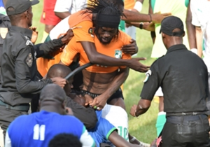 Gervinho loses his shorts as one fan gets carried away