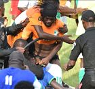 Gervinho loses shorts in pitch invasion