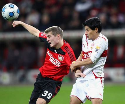 Bundesliga Bayer 04 Leverkusen - VfB Stuttgart: Toni Kroos & Ricardo Osorio (Bongarts/Getty-Images)