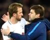Tottenham striker Harry Kane with Mauricio Pochettino