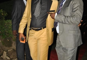 Sofapaka President Elly Kalekwa arrives for Gala at Safari Park Hotel.