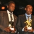 Sofapaka striker Enock Agwanda (l) could be headed to Tanzanian giants Yanga FC