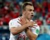 Xherdan Shaqiri celebrates for Switzerland