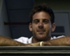 Tennis hero Del Potro attacked by sprinklers during Boca appearance!