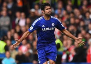 Diego Costa volvió a marcar con el Chelsea...