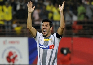 Luis Garcia of Atletico de Kolkata during ISL match against Kerala Blasters FC