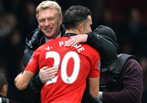 October 2013: Former Arsenal striker Robin van Persie scored the only goal of the game as United secured a 1-0 win over Wenger's side and eased some pressure on new manager David Moyes.