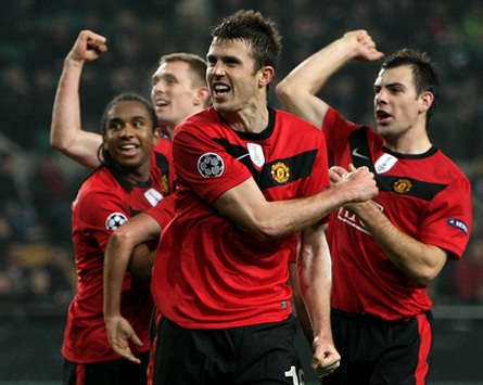 Michael Carrick, Anderson, Darren Fletcher, Darron Gibson - Manchester United (Getty Images)