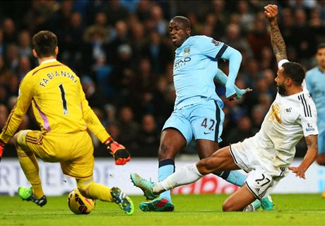 Premier League: Man City 2-1 Swansea
