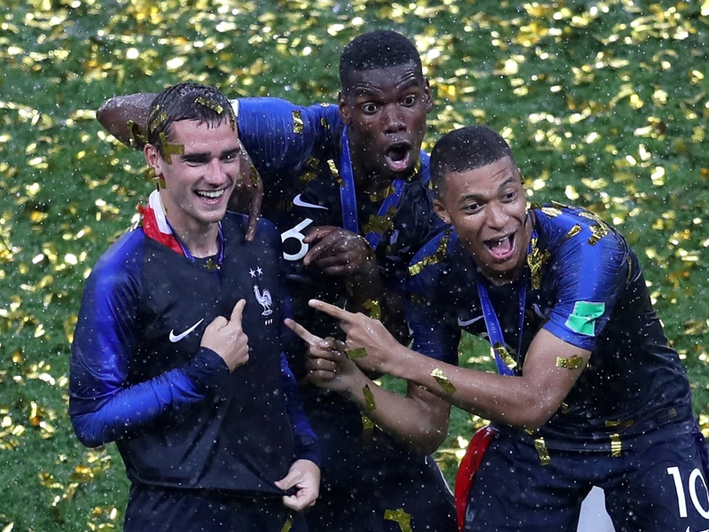Vive la France! Mbappe, Pogba and Griezmann rule the world