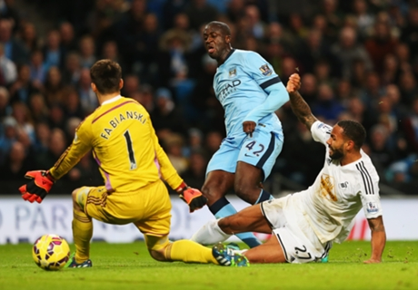 Man City 2-1 Swansea: Toure seals it