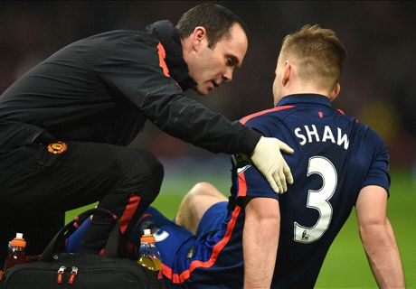 Van Gaal: Shaw out for 'a few weeks'