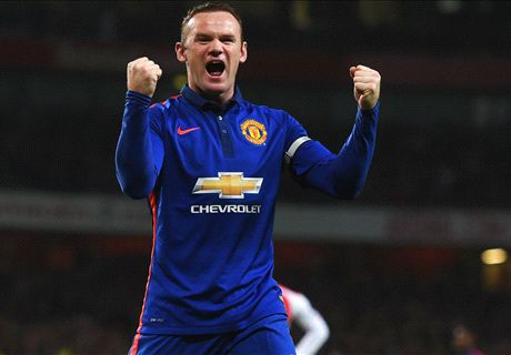 Rooney strikes as Man Utd sink Arsenal