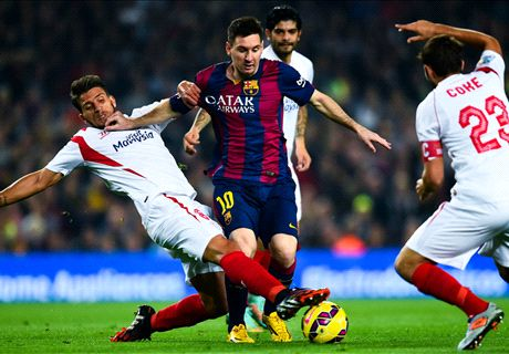 Messi makes history in Barca rout