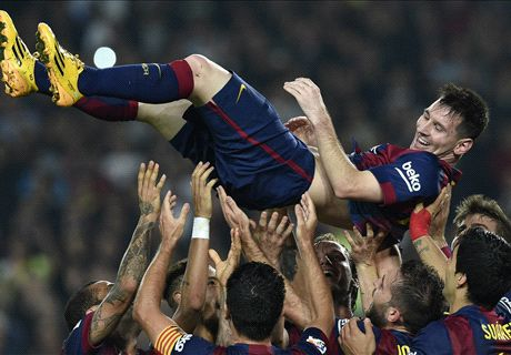 Messi breaks La Liga goalscoring record