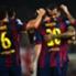 Im Mittelpunkt: Rekordmann Lionel Messi (M.)