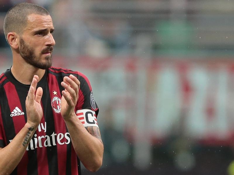 ICC CUp, Milan-Tottenham: Bonucci non scenderà in campo