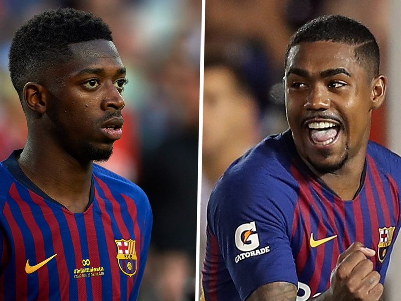 What is Dembele's Barcelona future following Malcom signing?