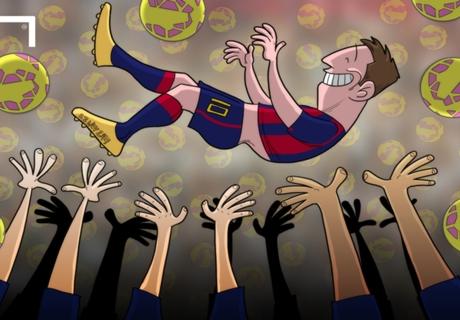 Caricatura: Messi, el Rey de La Liga