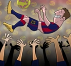 Cartoon: Record-breaker Messi gets the bumps