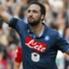 Esultanza di Gonzalo Higuain in Napoli-Cagliari 3-3