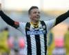 Di Natale celebrates scoring 200th Serie A goal
