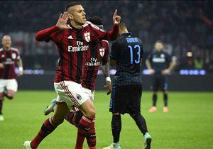 Menez dopo il goal all'Inter