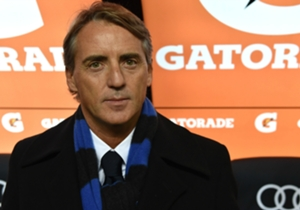 Mancini in panchina nel Derby