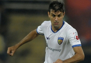Bruno Pelissari of Chennaiyin FC in action