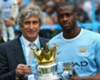Manuel Pellegrini and Yaya Toure together at Manchester City.