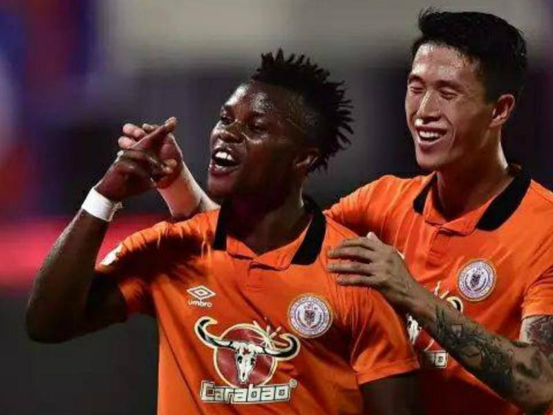 Ayub Timbe on target in Beijing Renhe's victory over ten-man Beijing Guoan