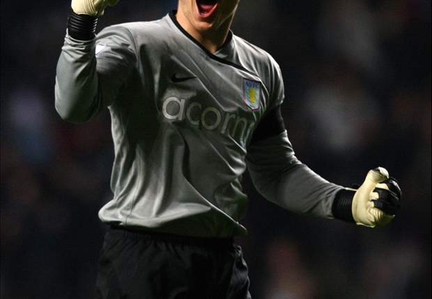 Aston Villa and United States international goalkeeper Brad Guzan not looking at Gold Cup and Roma, just playing time